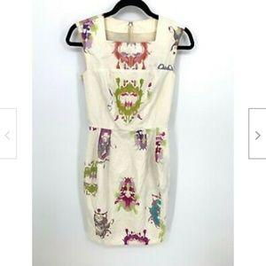 Yves Saint Laurent Ink Blot Paint Sheath Dress